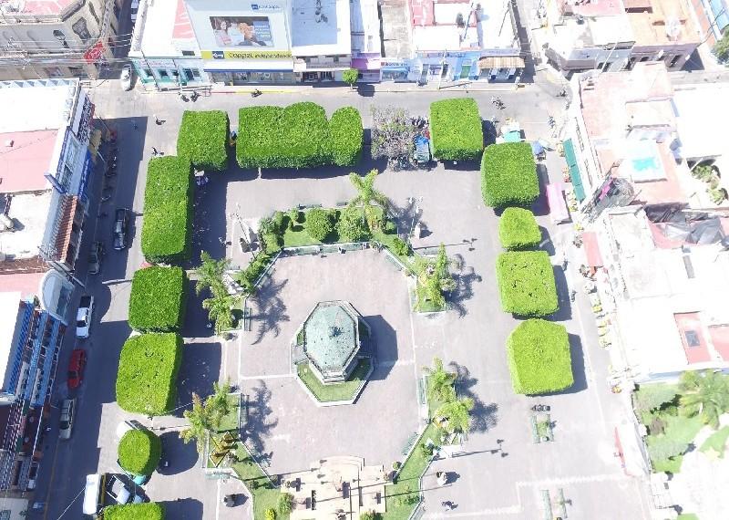 Toma aérea plaza Ocotlán. Foto: Gerardo Íñiguez