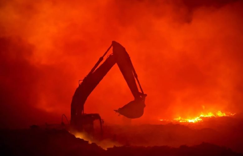 Incendio vertedero Ocotlán. Foto: Facebook Paulo Gabriel Hernández.