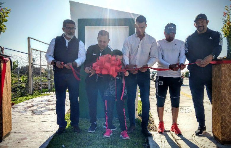Inauguran parque lineal en Jamay. Foto: Marcelo Ramírez.