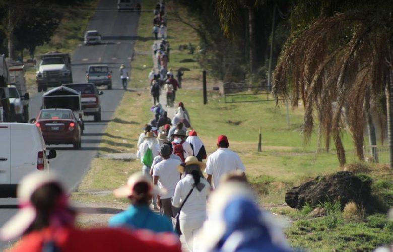 Cuatro mil peregrinos. Foto: Facebook.