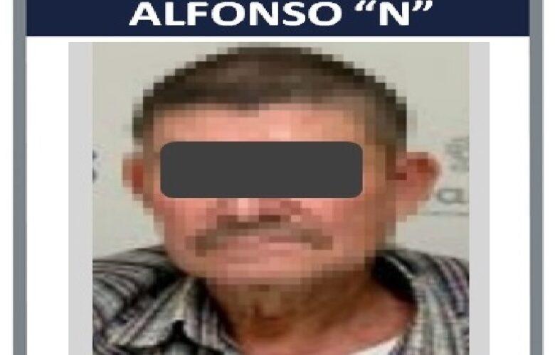 """Alonso """"N"""", detenido por la Fiscalía."""