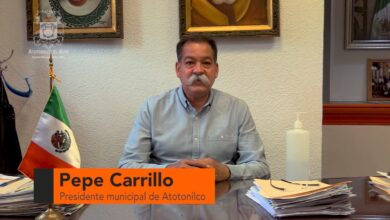 Cruz Carrillo Solís, alcalde de Atotonilco el Alto. Foto: Captura de video.