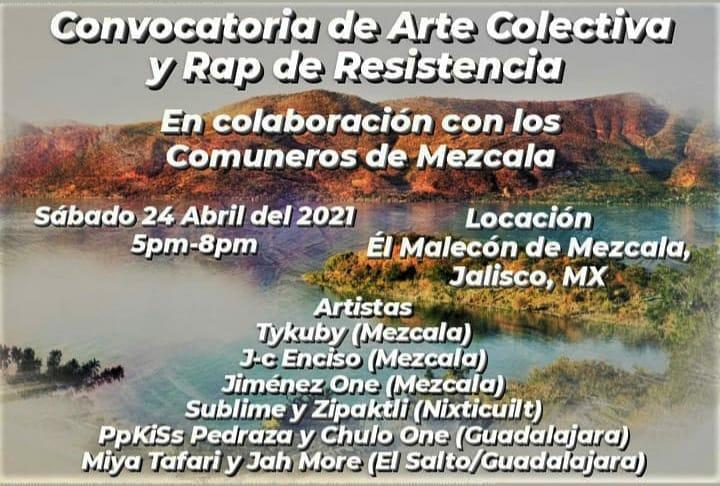 Rap en resistencia, Mezcala. Foto: Cartel del evento.