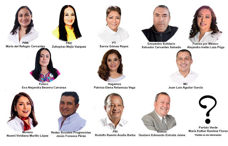 Candidatos diputación local Distrito 15.