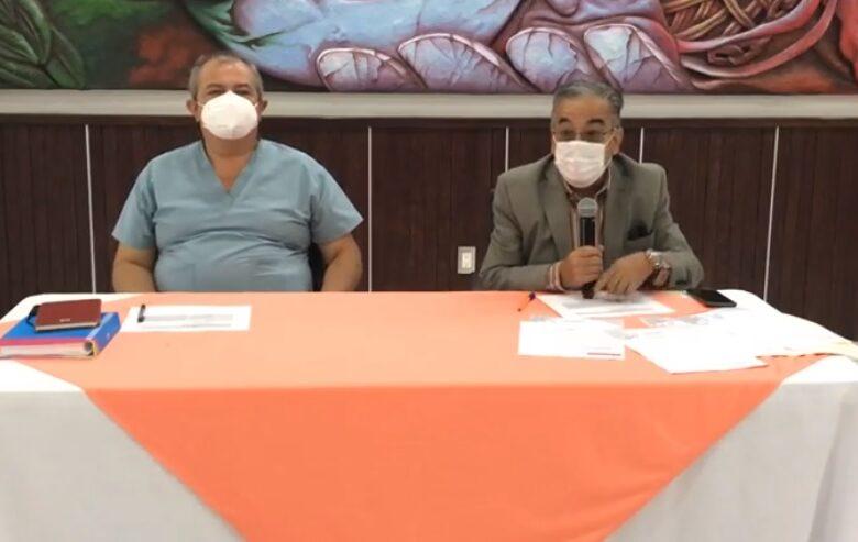 Manuel Gutiérrez Muñoz, regidor; y Juan Antonio Mercado, alcalde interino. Foto: Captura video.