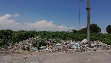 Acumulación de basura en esquinas y lotes baldíos de La Barca. Foto: Mizrahym Arredondo.