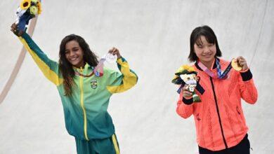 Rayssa Leal (izq.) y Momiji Nishiya (der.) ganadoras. Foto: Internet.