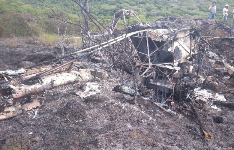 Cae avioneta. Foto: Protección Civil Jalisco.
