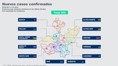 Gráfico elaborado por el Gobierno de Jalisco.
